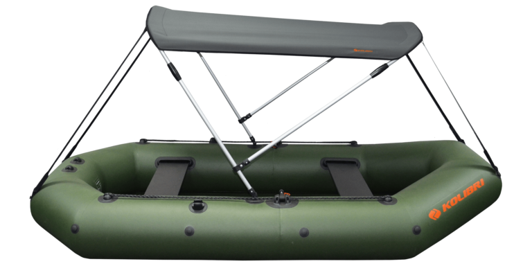Bimini top for inflatable boat